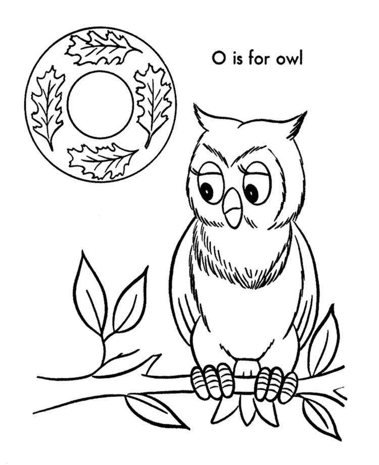 Alphabet Coloring Pages O Is For Owl