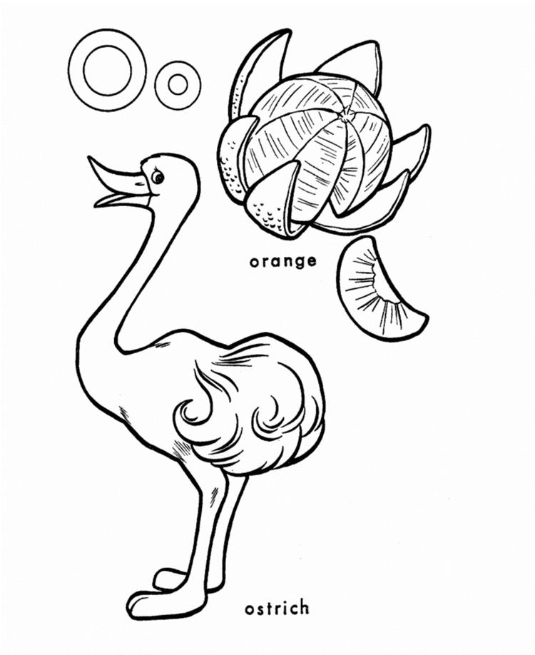 Alphabet Coloring Pages O Words
