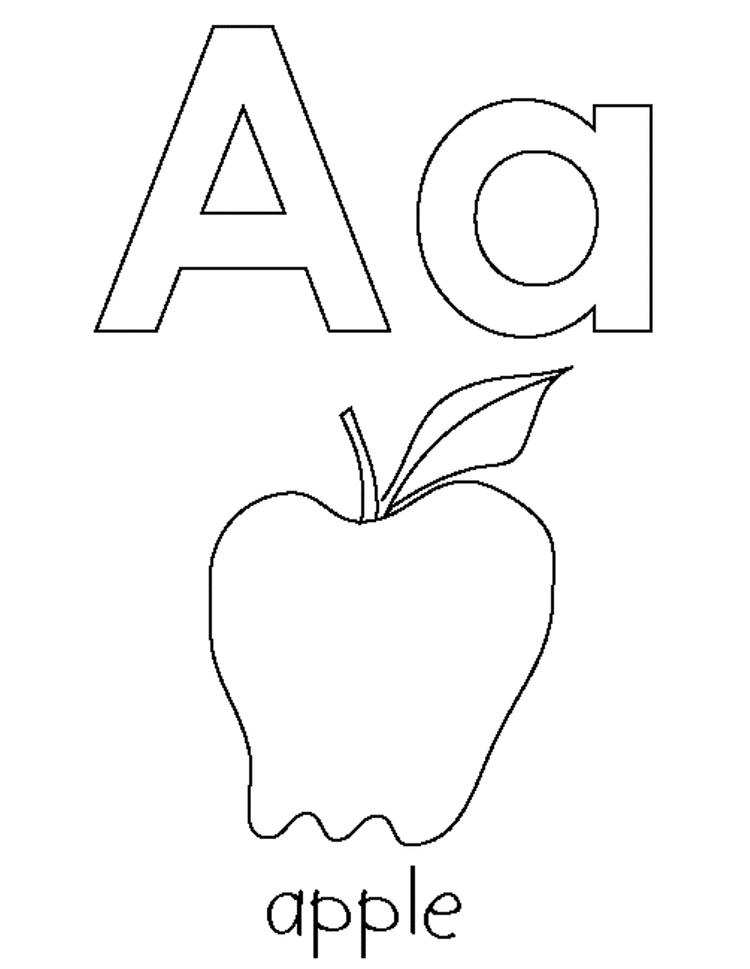 Alphabet Coloring Pages Printable Apple Printable
