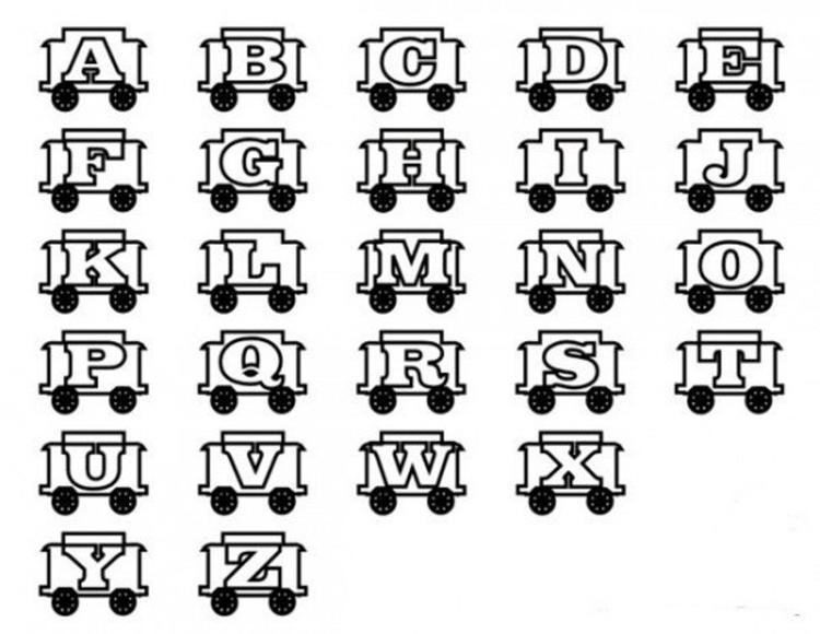 Alphabet Coloring Pages Printable For Children