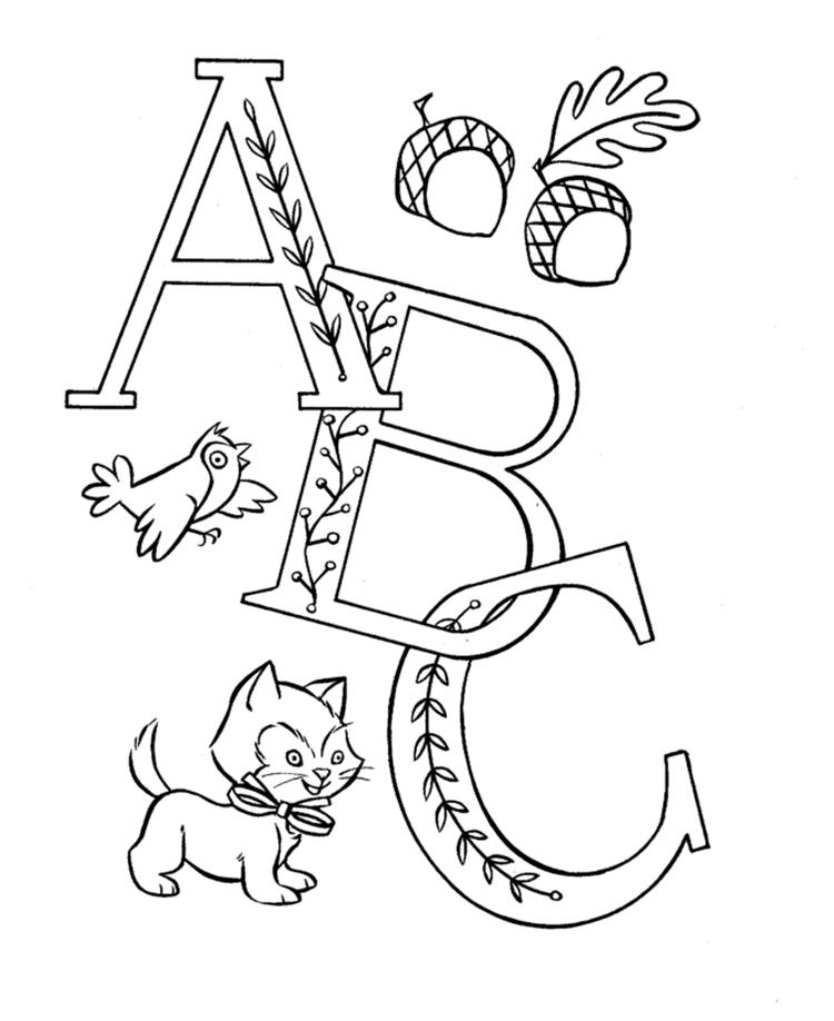 Alphabet Coloring Pages Printable For Preschool