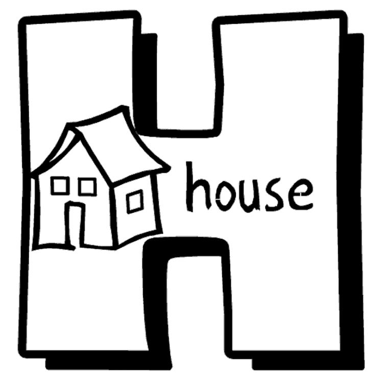 Alphabet Coloring Pages Printable H Is For House