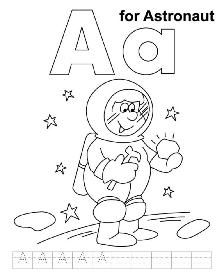 Alphabet Handwriting Coloring Pages