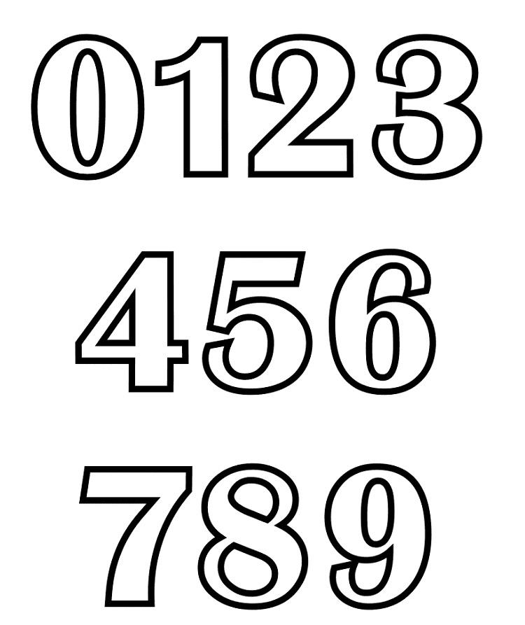 Alphabet Number Coloring Pages