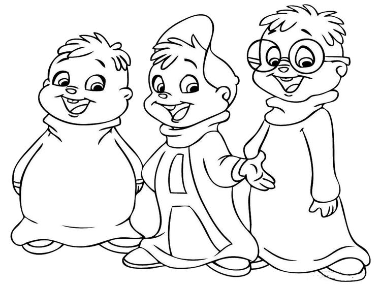 Alvin And Chipmunks Coloring Pages For Print