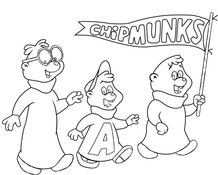 Alvin And The Chipmunks Coloring Pages Cartoon