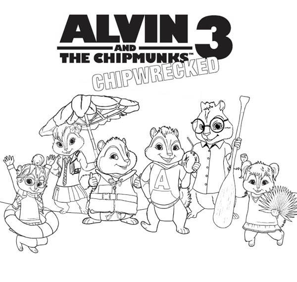 Alvin And The Chipmunks Coloring Pages Chipwrecked