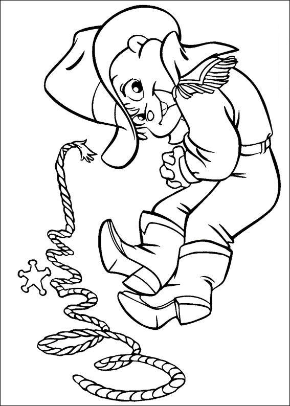Alvin And The Chipmunks Coloring Pages Cowboys