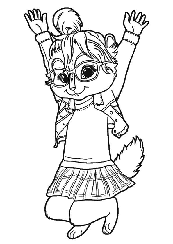 Alvin And The Chipmunks Coloring Pages Jeanette