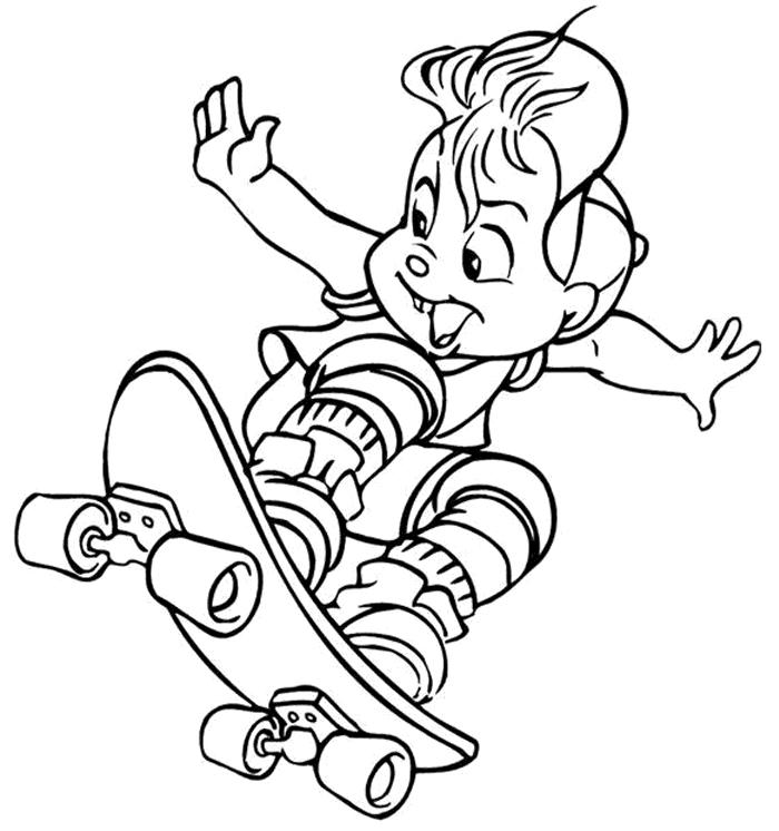 Alvin And The Chipmunks Coloring Pages Kids