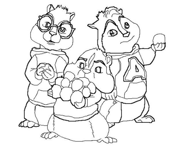 Alvin And The Chipmunks Movie Coloring Page