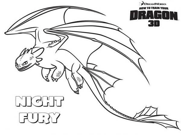 Amazing Night Fury How To Train Your Dragon Coloring Pages