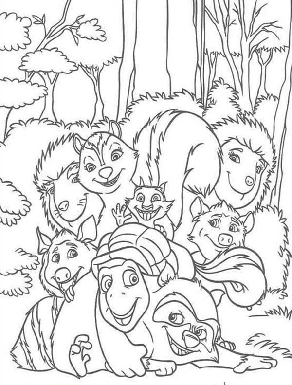 Amazing Over The Hedge Gang Coloring Pages