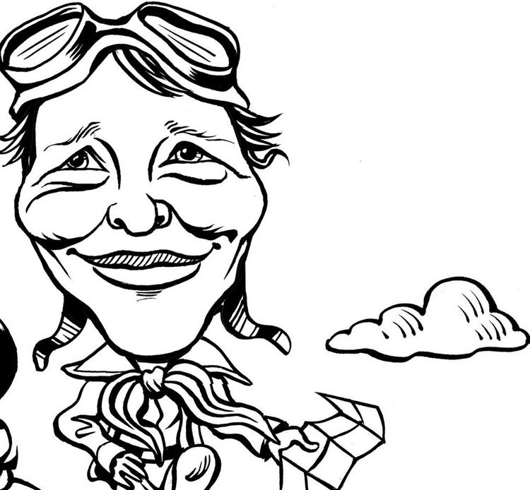 Amelia Earhart Coloring Pages