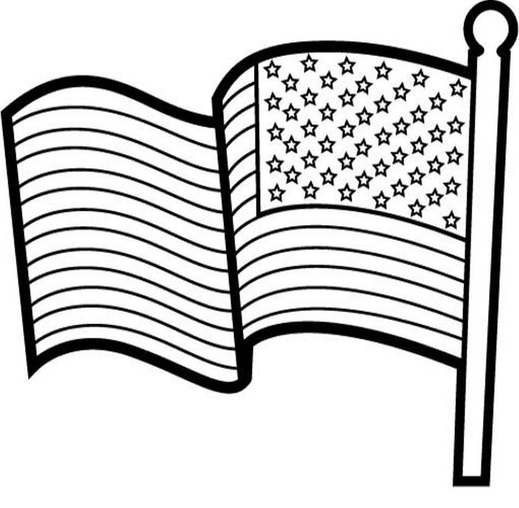 American Flag Coloring Page For Kids