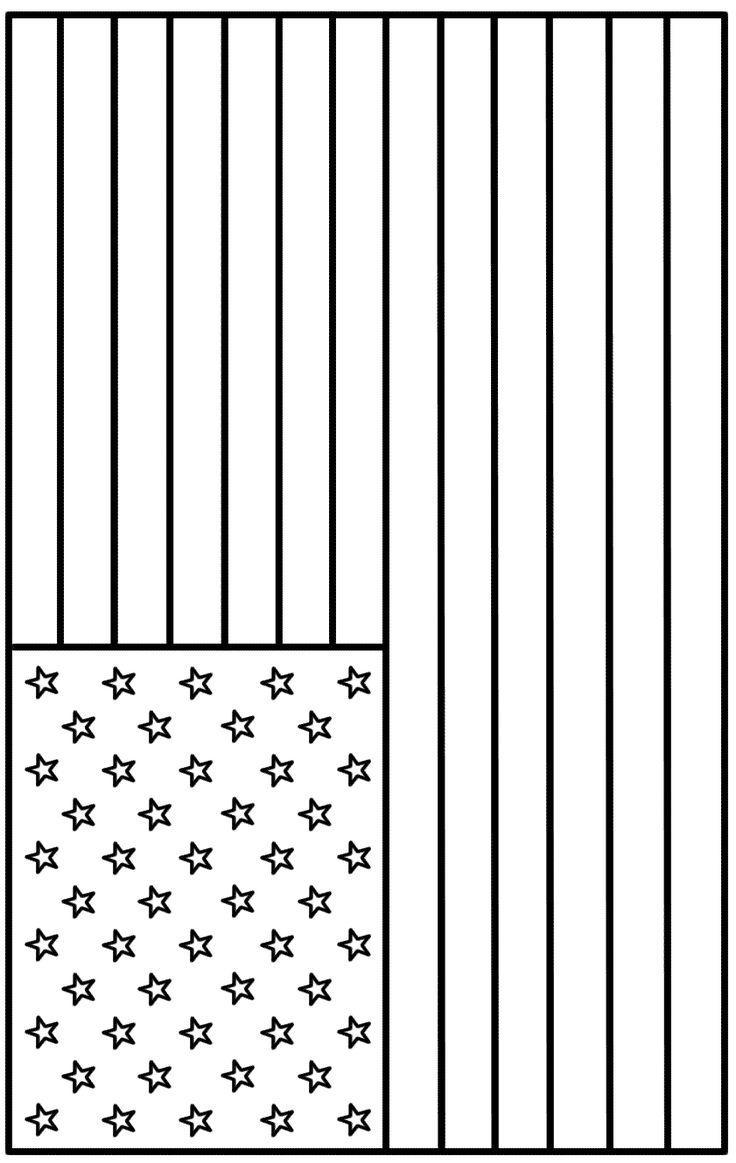 American Flag Coloring Pages For Kids