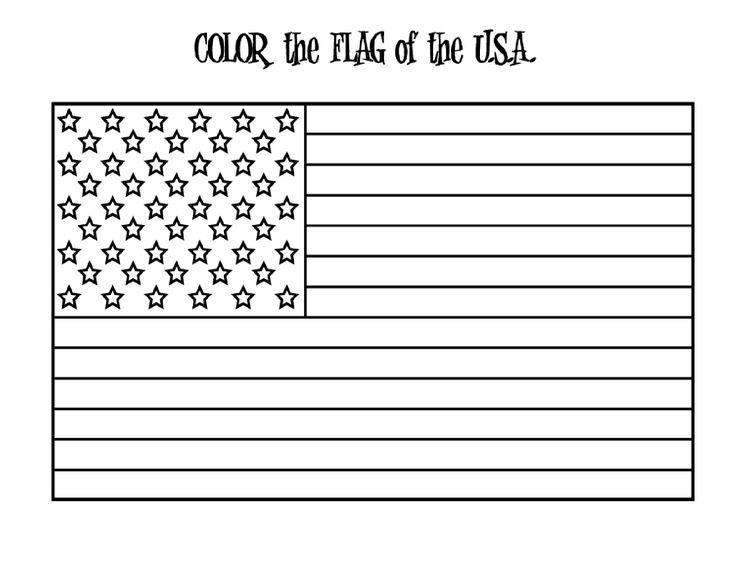American Flag Coloring Pages Free To Print