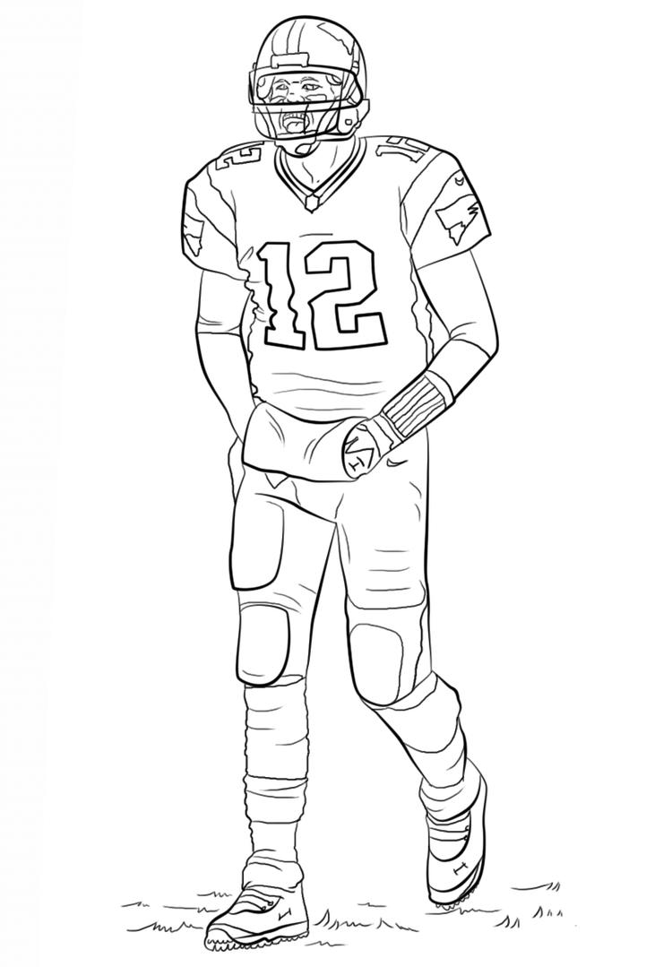 American Football Player Coloring Pages Printable