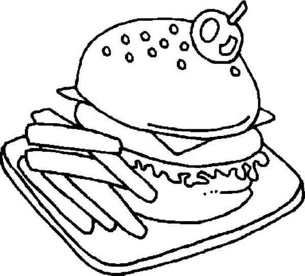 American Junk Food Coloring Pages