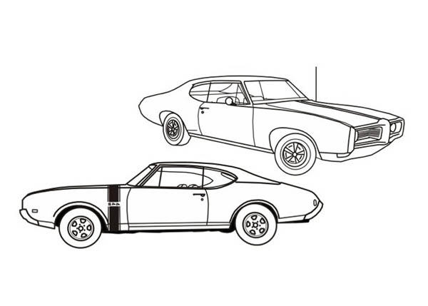 American Muscle Classic Cars Coloring Pages