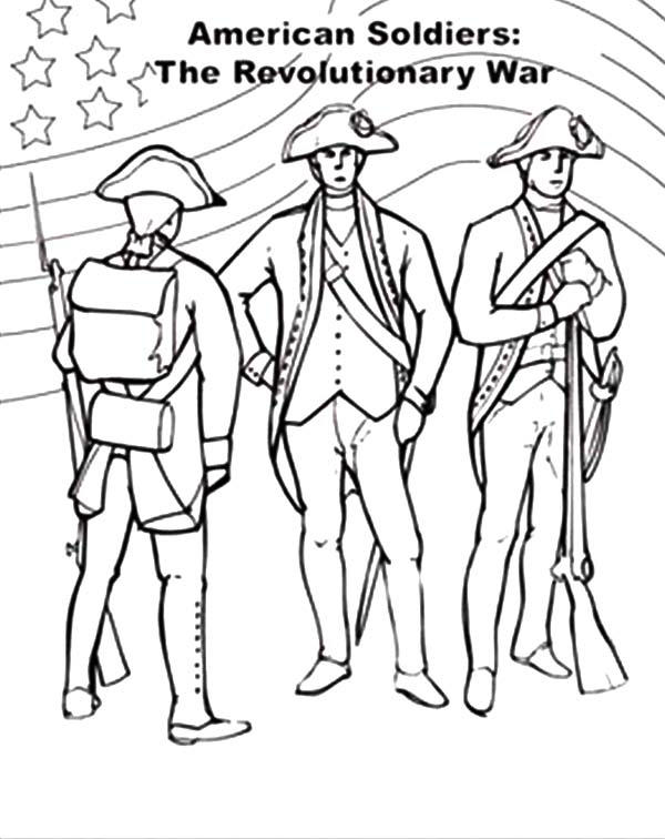 American Revolution Flag On Revolutionary War Coloring Pages