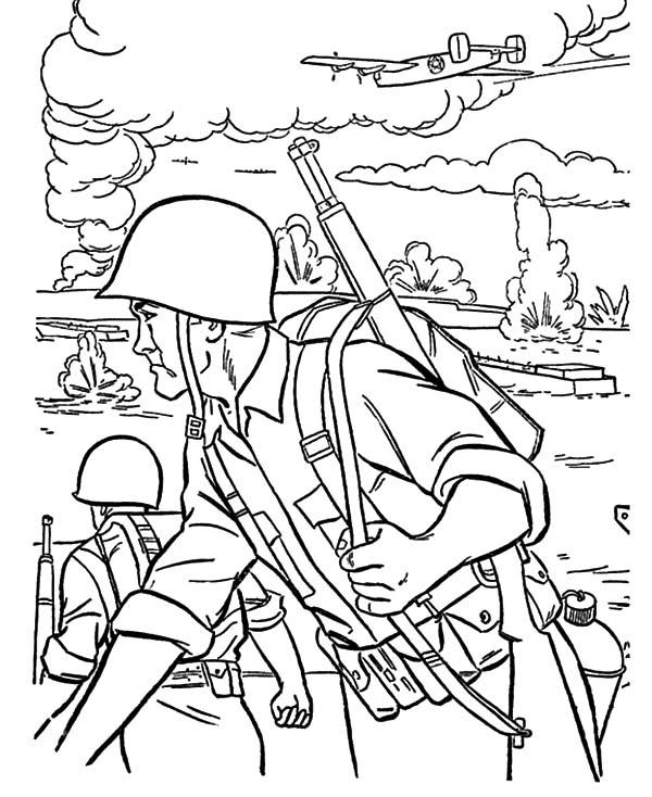 An Army Troops Coloring Pages