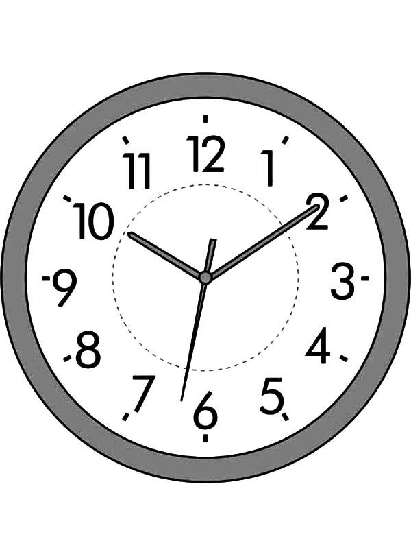 Analog Clock Coloring Pages For Kids