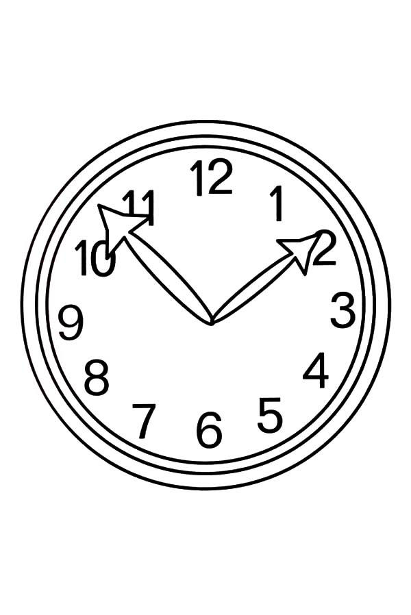 Analog Clock Image Coloring Pages