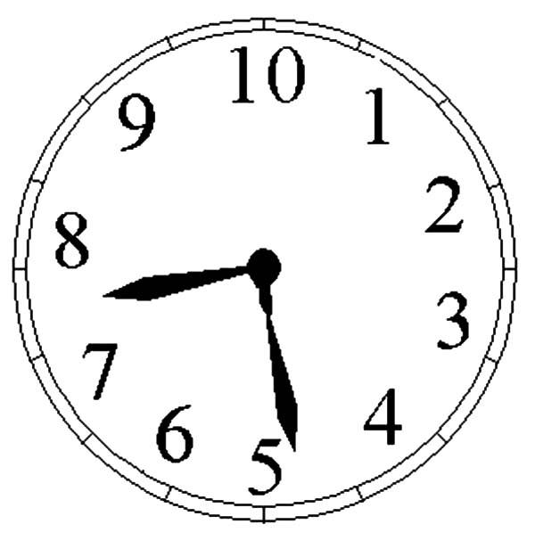 Analog Clock Picture Coloring Pages