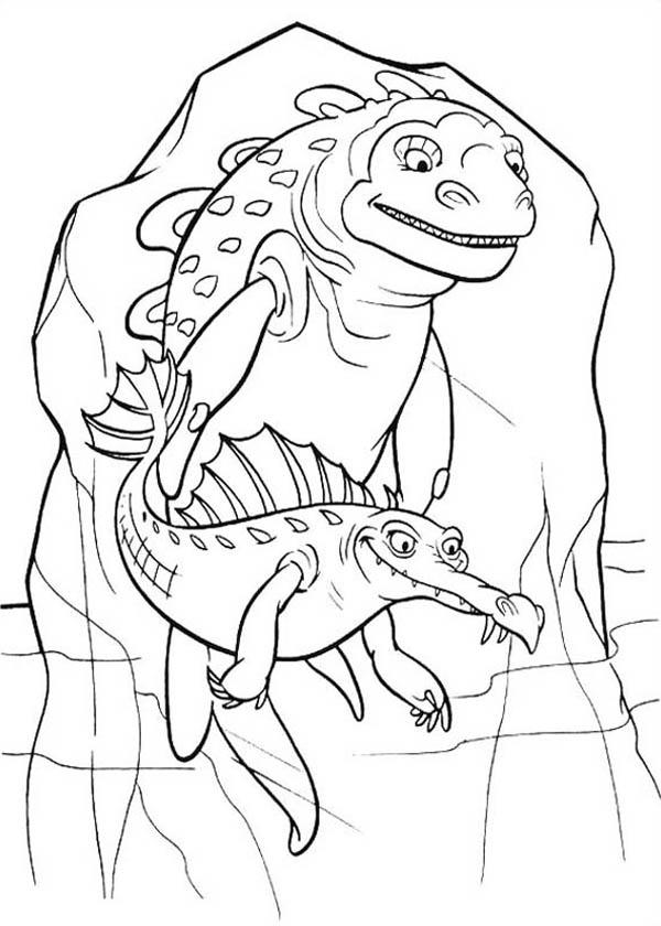 Ancient Animal Trapped In Ice Age Coloring Pages