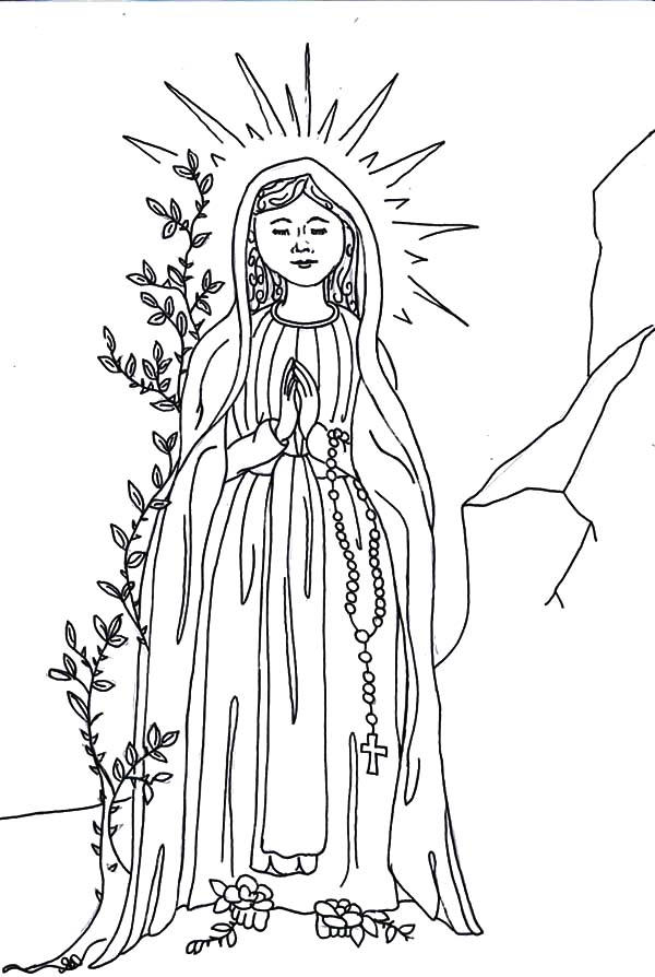 Angel Appears To Mary The Birth Mother Of Jesus Coloring Pages