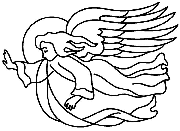 Angel Coloring Pages Flying