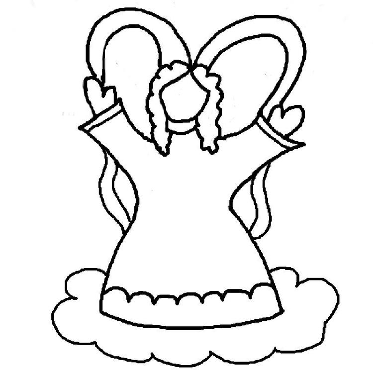 Angel Coloring Pages For Preschooler