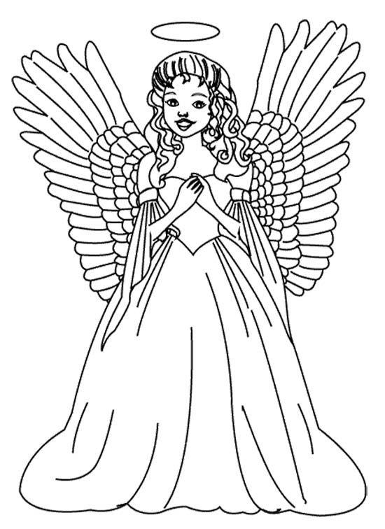 Angel Coloring Pages Free To Print