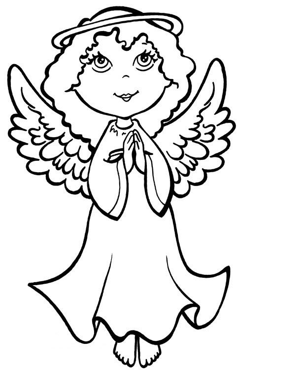 Angel Coloring Pages Praying