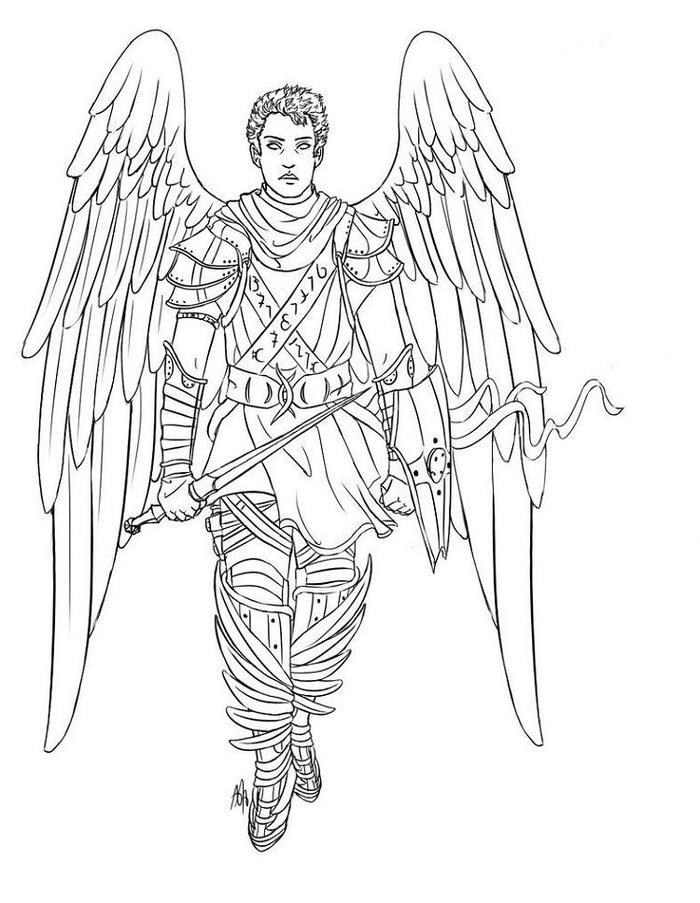 Angels Warrior Coloring Pages