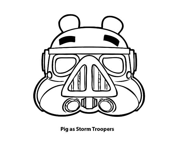 Angry Bird Pigs As Storm Troopers Coloring Pages
