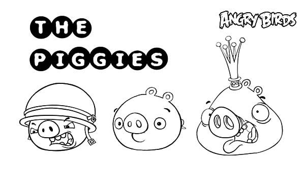 Angry Bird Pigs Member Coloring Pages