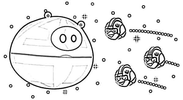 Angry Bird Pigs Star Wars Theme Coloring Pages