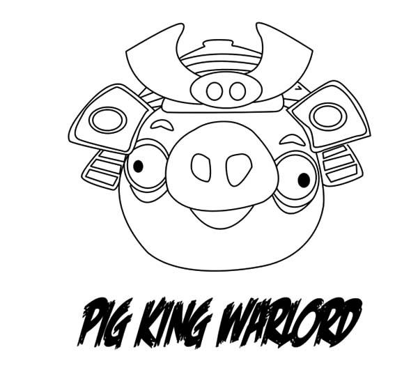 Angry Bird Pigs Warlord Angry Coloring Pages