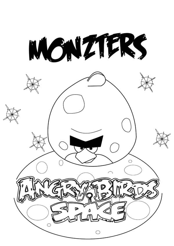 Angry Bird Space Monzters Coloring Pages