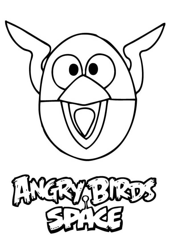 Angry Bird Space The Lighting Bird Coloring Pages