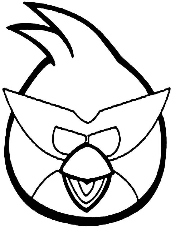 Angry Bird Space Wearing Super Space Mask Coloring Pages