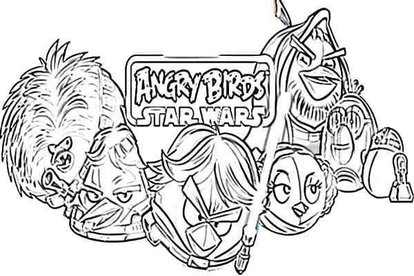 Angry Bird Star Wars Coloring Pages For Kids
