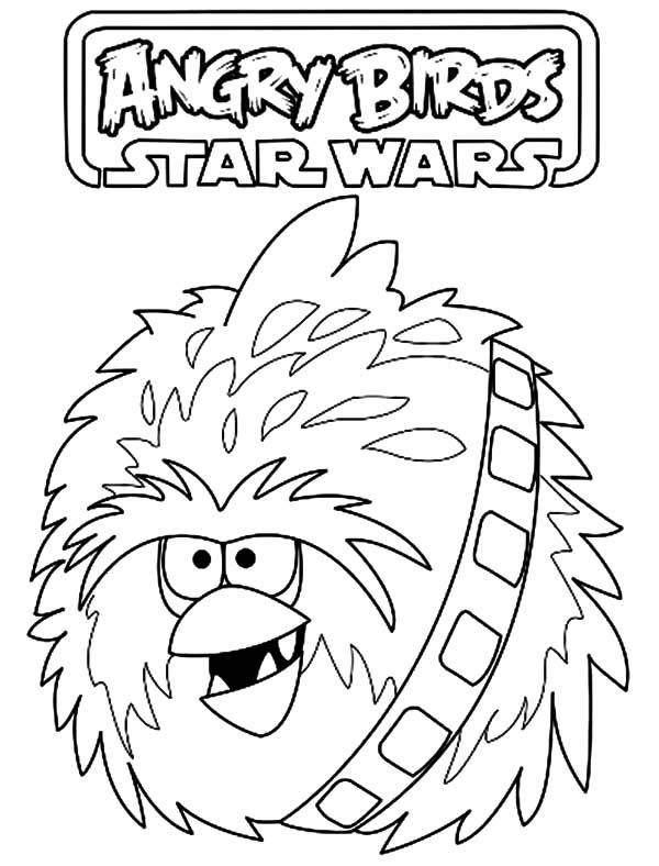 Angry Bird Star Wars Fuzzball Coloring Pages