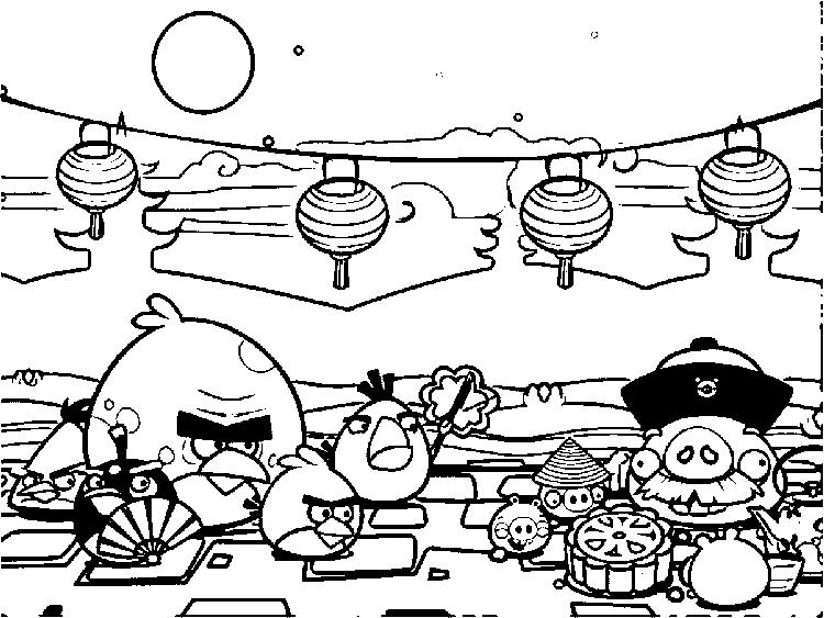 Angry birds coloring pages china
