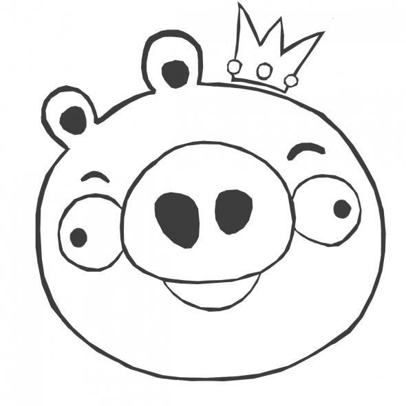 Angry Birds Coloring Pages King Pigs