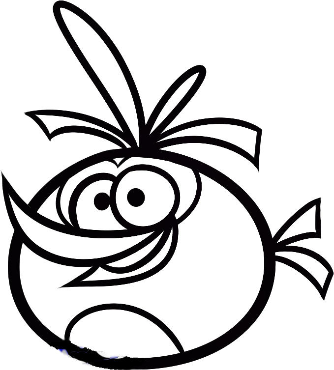 Angry Birds Coloring Pages Orange Bird