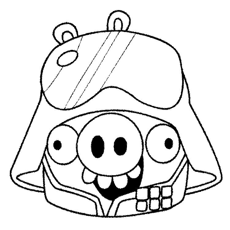 Angry Birds Space Coloring Pages Pigs