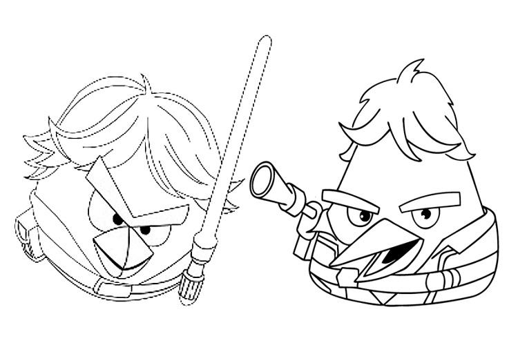 Angry Birds Star Wars Coloring Pages Free